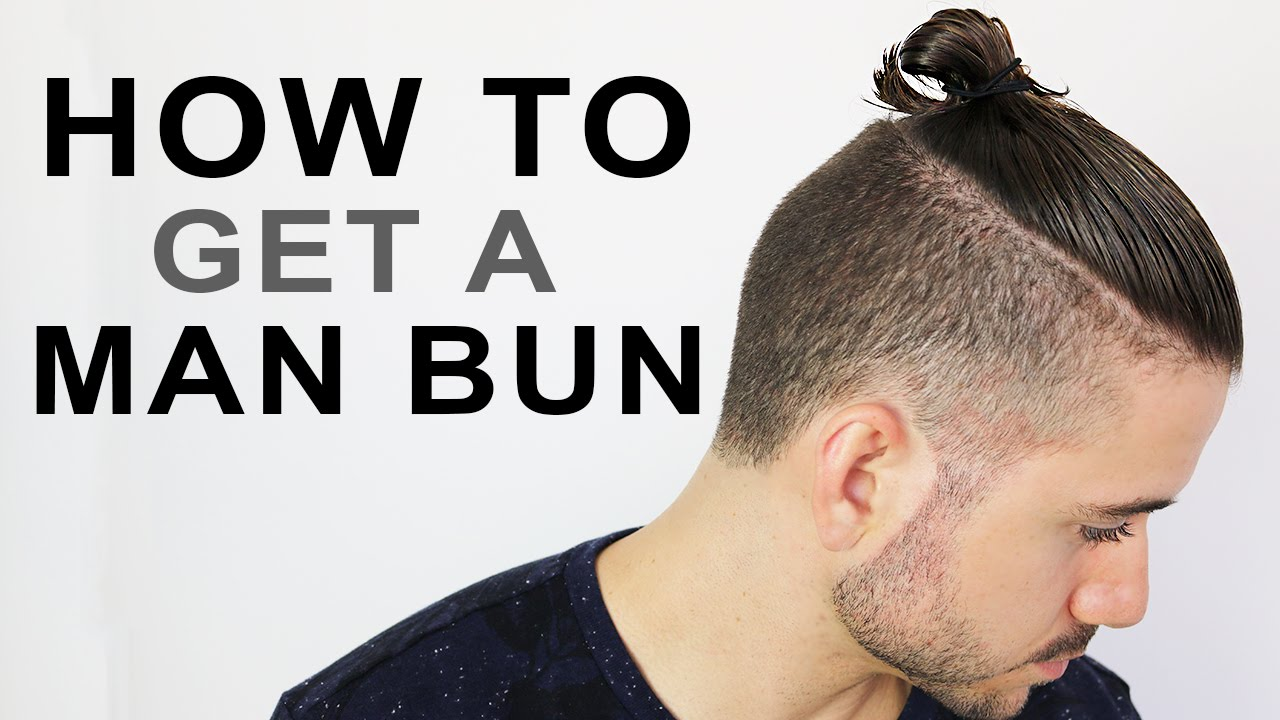 """Also termed a """"semi bun"""" in our man bun … How To Get A Man Bun Or Top Knot Men S Hairstyle Tutorial Youtube"""