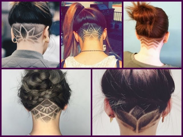 This bleach blonde hair color is the ideal pairing for an undercut style on long hair. Trendy Haircuts 2018 50 Women S Haircuts With Back Undercut Design Youtube