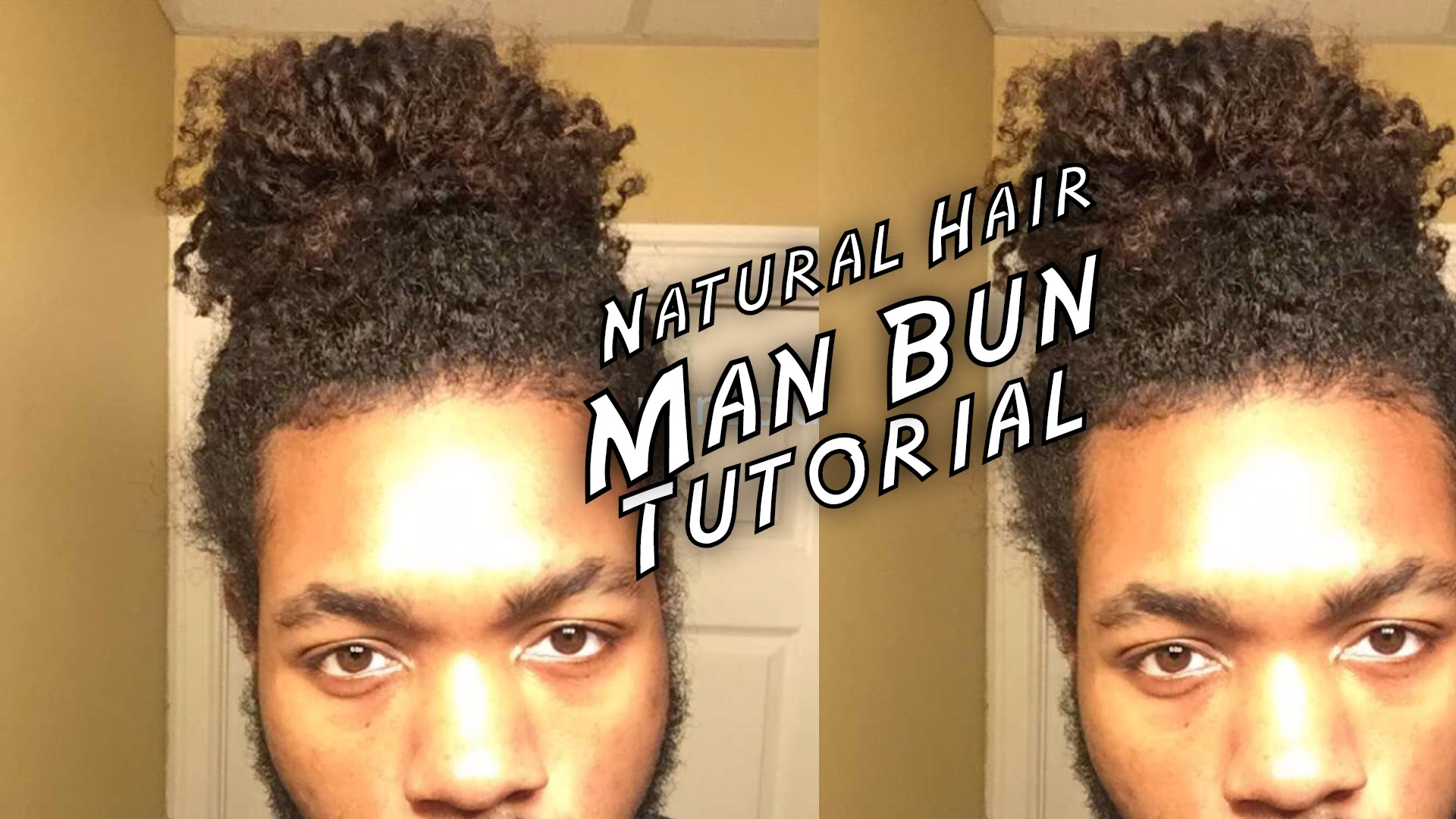 Styling your curls in a guy bun makes maintenance simple. Man Bun Tutorial For Black Men Naturally Curly Hair Adore Natural Me