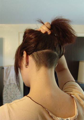 Some of these hairstyles may be a little bit over the top (like the mohawk), but men accept accurate to be able of affairs them off. Undercut Hairstyle Ladies Google Search Undercut Long Hair Undercut Hairstyles Undercut Hairstyles Women