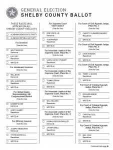 © 2021 • coffee county, alabama • powered by scytl. Sample Ballots Review And Print Your Ballot Before You Go To The Polls Birminghamwatch