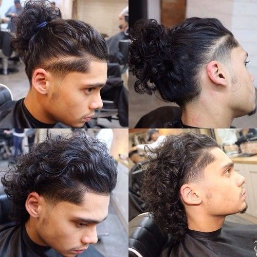 All you need to do is pull your long wavy hair into a messy, swirly bun and ready to go out. Shared By Quo Blvck Goddess Find Images And Videos About Hair Nice And Long Hair On We Heart It The Long Curly Hair Men Long Hair Fade Undercut Long Hair