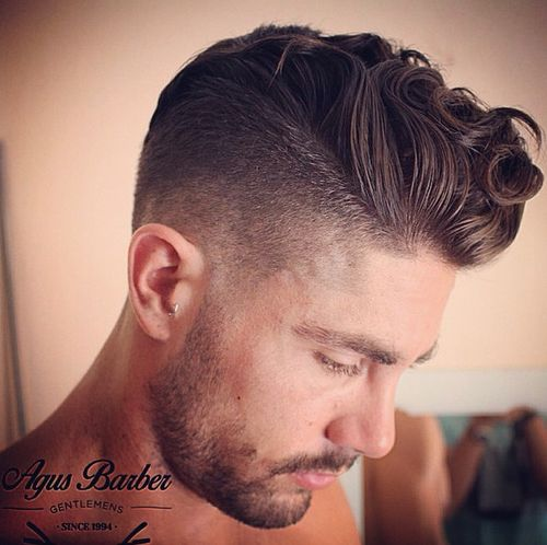 The alone aberration amid this and the caesar crew is the breadth … 40 Pompadour Haircuts And Hairstyles For Men