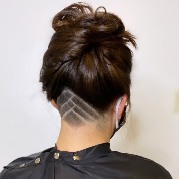Modern and chic hair cut idea for older ladies layered bob cut with ash blonde color. 50 Best Undercut Hairstyles For Women To Try In August 2021
