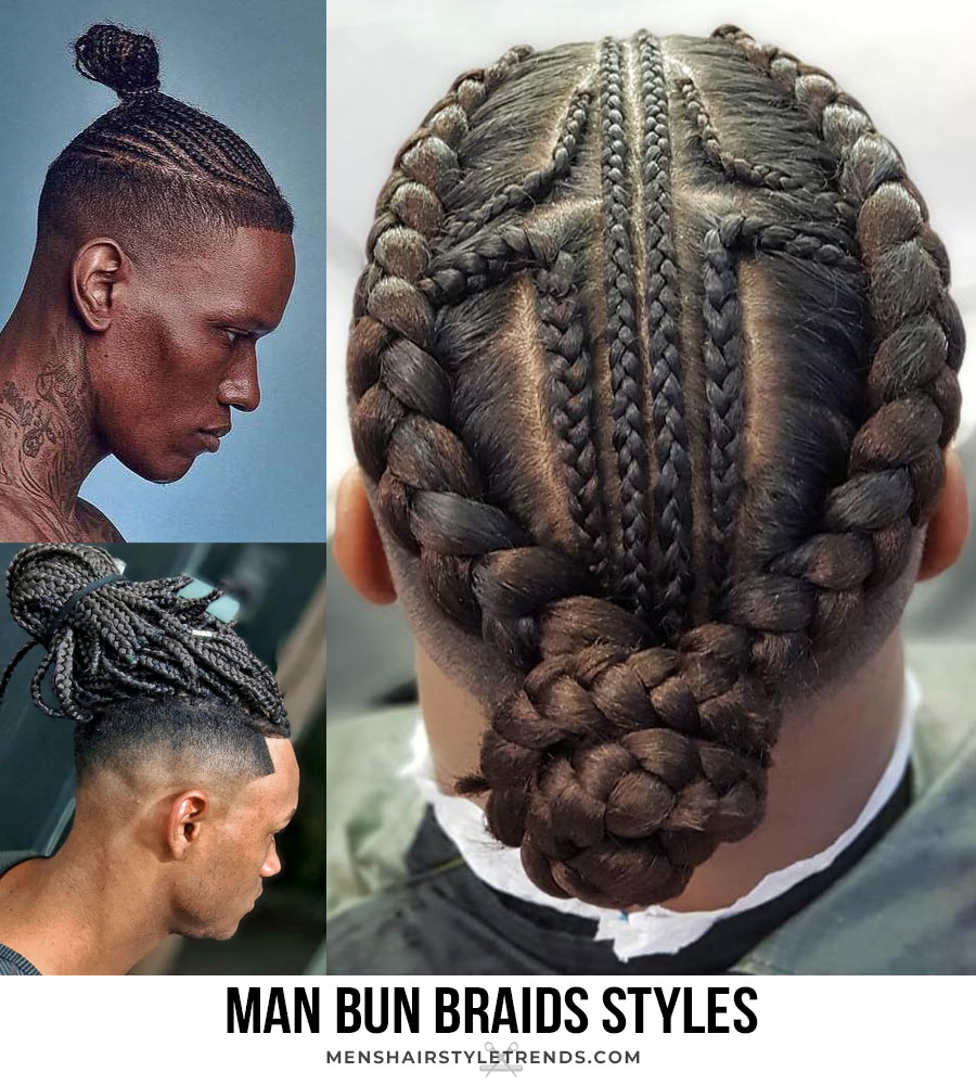 24/11/2019· the tri braid man bun is an interesting look that features 2 braids on each side of the head and one braid on the top of the head. Braids For Men A Guide To All Types Of Braided Hairstyles For 2021