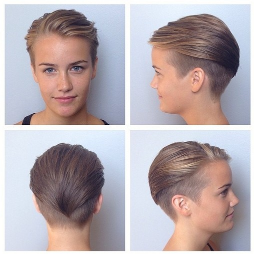 Short shaved side hairstyle with curly hair source. Cool Textured Mohawk Haircut For Women Hairstyles Weekly