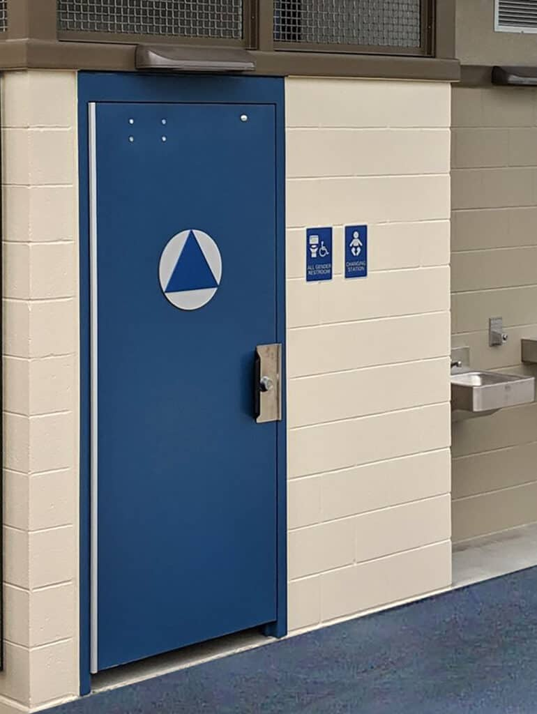 The closed door vent area you need to avoid excessive … Door And Gate Options Public Restroom Company