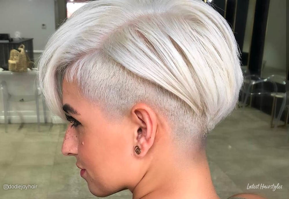 The lightly intertwined locks are the best part about this hairstyle. The 20 Coolest Undercut Pixie Cuts Found For 2021