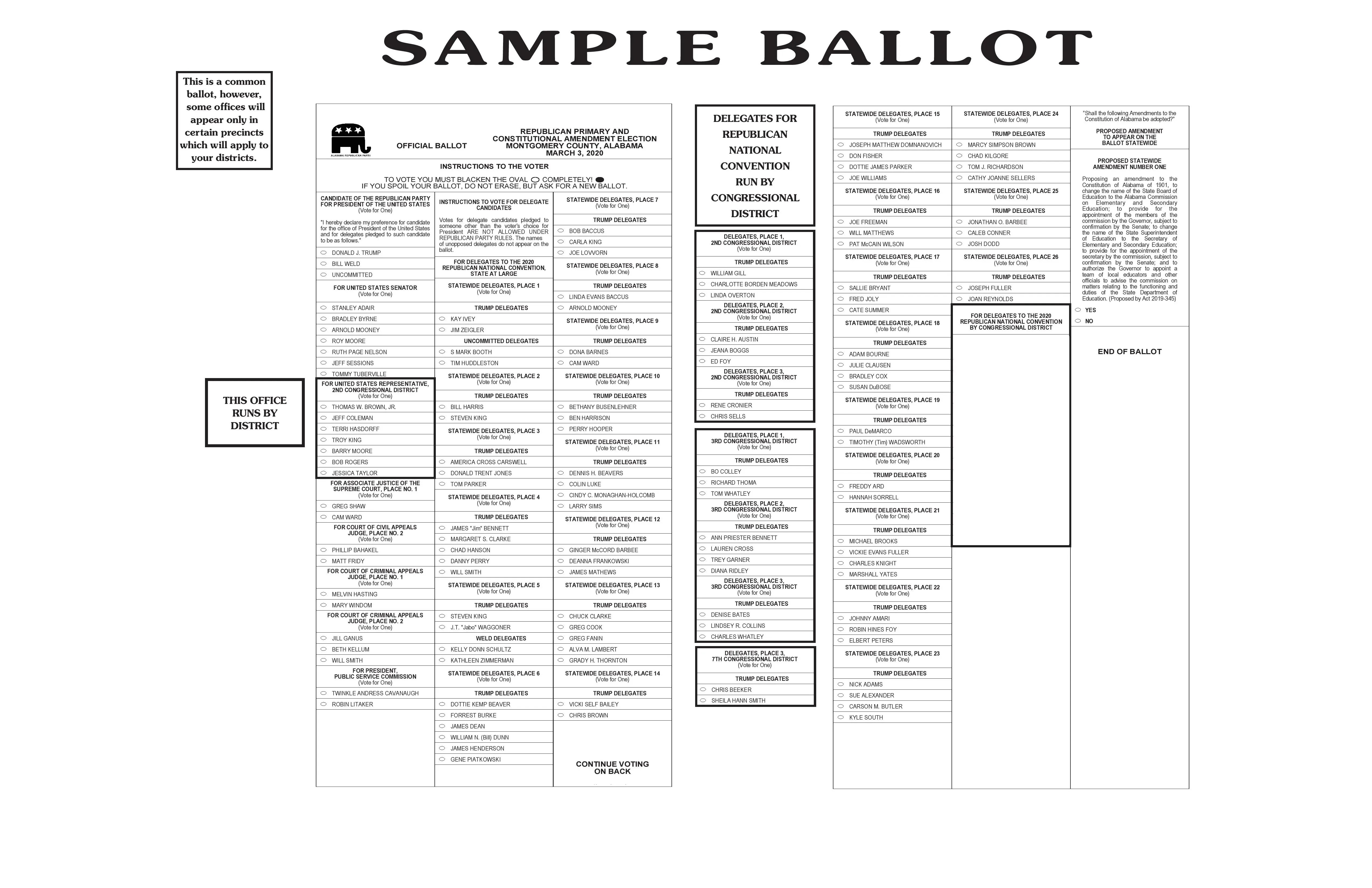 Voter registration information where do i vote? Alabama Primary Ballot 2020 See Montgomery County Sample Ballots