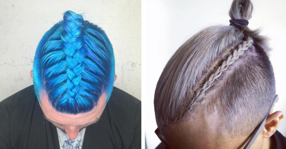 The unique thing about this man bun braid style is the braids are only joined to the head until they reach the back of the ear before transitioning into a plat. The Man Braid Man Bun Braids Is The Newest Trend In Men S Hairstyles